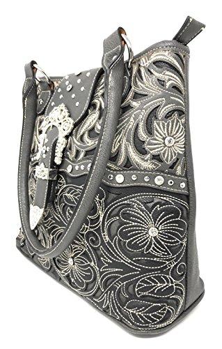 Flora Boucle Femme Deep Grey Texas Strass West1066 5Hw8ExnqB