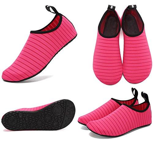 CIOR Leichte Aqua Socken Quick-Dry Wasser Schuhe Mutifunctional Barfuß Für Strand Pool Surf Yoga Übung Rose