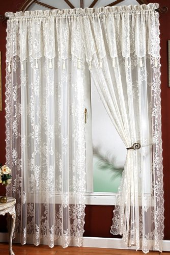 Curtains Ideas cheap lace curtain panels : Amazon.com: Carly Lace - 84