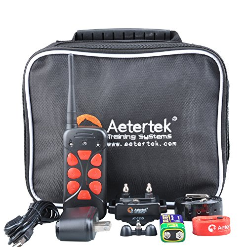 Aetertek Rechargeable and waterproof 600 yd Remote Dog Training Shock Collar with Beep, Vibration and Shock Electronic Electric Collar (For 1 dog)