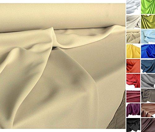 Verdunkelungs-Stoff Meterware - edler Vorhangstoff in 18 Farben (Sand-Beige)