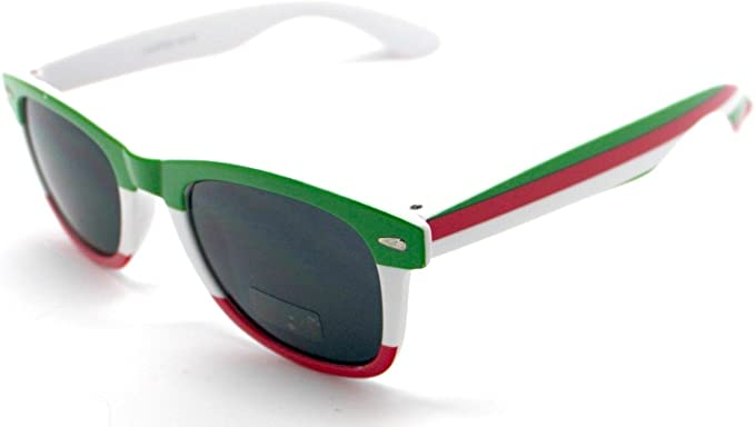 Totalcovers Gafas de Sol Espejo Sunglasses Bandera Italia: Amazon ...
