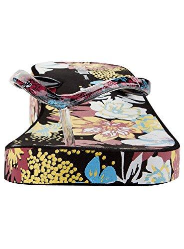 oodji Ultra Mujer Zapatillas Playeras Estampadas de Suela Gruesa Negro (2949F)