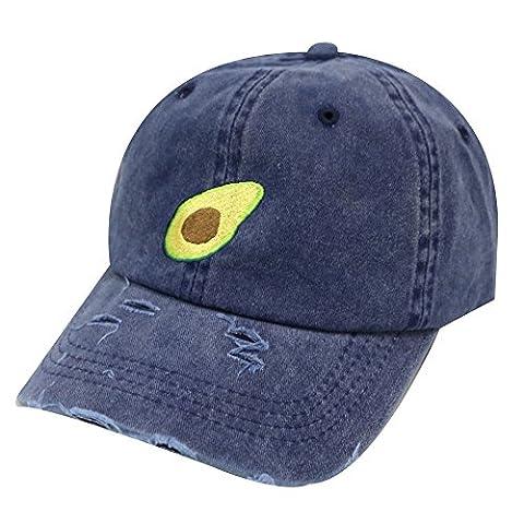 City Hunter C104 Avocado Cotton Baseball Dad Caps 18 Colors (Vintage Blue) - Blue Color Cotton