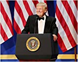 Wall Art Print ~ U.S. National Photo: President DONALD TRUMP Smiling at the Armed Service Ball