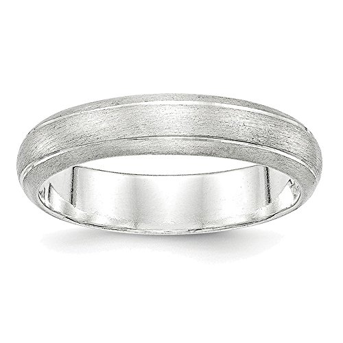 Satin Band Sterling Silver Ring (Sterling Silver 5mm Satin Finish Band Ring QSFB050)
