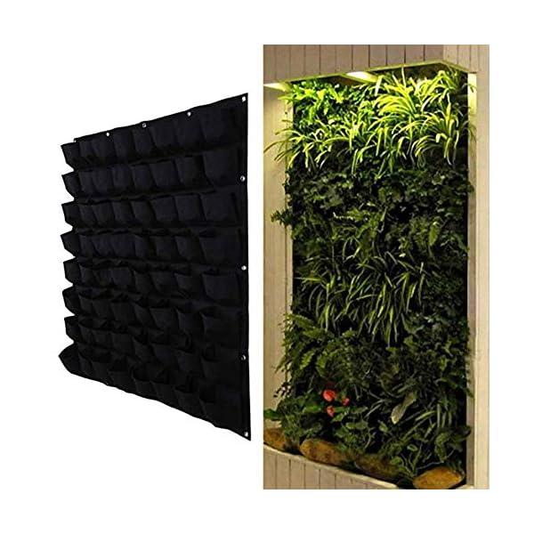 shilihuajian Colore Nero Appeso A Parete Borse per Piantare Tasche Coltivare Borsa Fioriera Giardino Verticale Orto… 1 spesavip