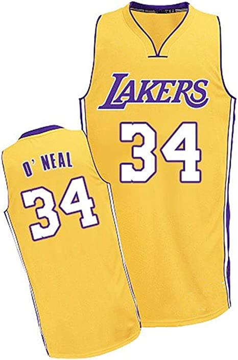 Aojing Shaquille ONeal 34 Los Angeles Lakers Mangas de Camiseta ...