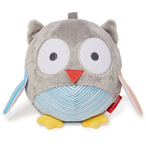 Skip Hop Baby Treetop Friends Owl Chiem Ball, Grey Pastel (Recolor), Multi