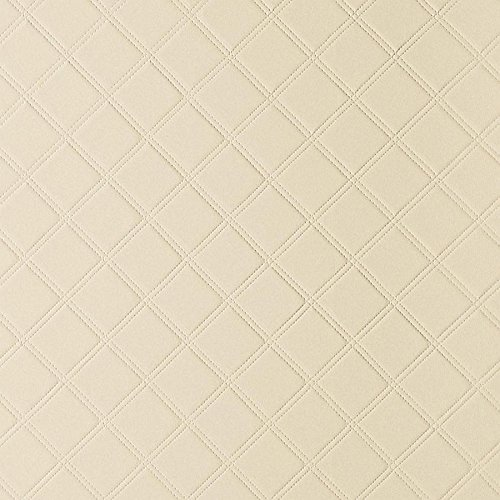 WallFace 13867 ROMBO Wall panel self-adhesive Leather design plaid Luxury wallcovering wallplate cream | 2,6 sqm by Wallface (Image #4)