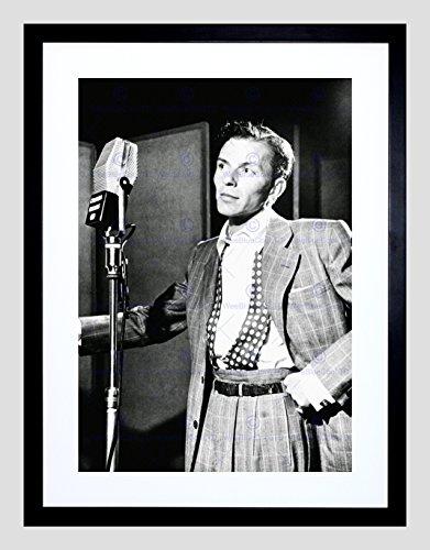 (VINTAGE PHOTO SINGER FRANK SINATRA NEW YORK FRAMED ART PRINT POSTER F97X12437)