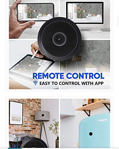 Mini Hidden Camera, 1080P Full HD Wireless WiFi Security Video Camera with Night Vision and Motion Detection, for Car Indoor Outdoor Home