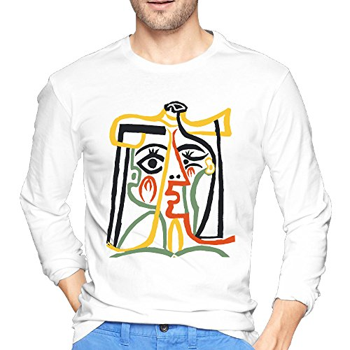 Anch Men's Pablo Picasso Tete De Femme White Long Sleeve (100 Bar Stools)