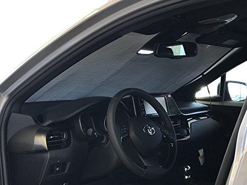 The Original Windshield Sun Shade, Custom-Fit for Toyota C-HR SUV 2018, 2019, Silver Series
