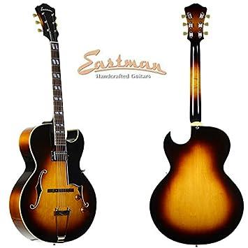 Eastman ar371ce arco superior Cutaway Guitarra eléctrica con acabado de madera: Amazon.es: Instrumentos musicales