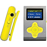 ECLIPSE Eclipse Fit Clip SL/YW 4GB 1 MP3 Player (Silver/Yellow)