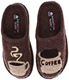 coffee slippers - Haflinger Women's AR Coffee Earth Flat,39 EU/8 M US