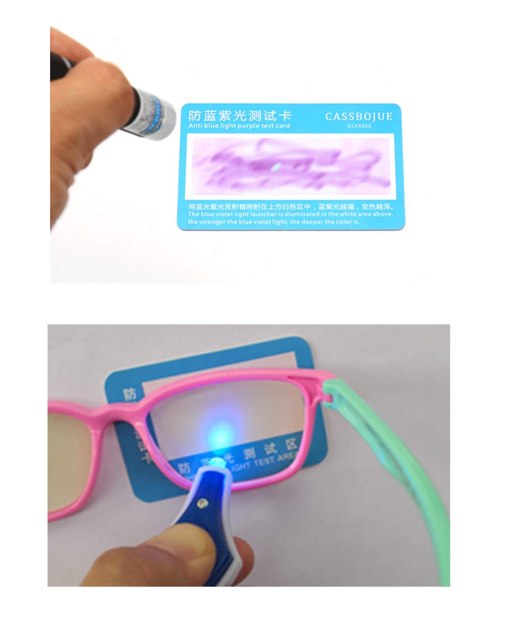 Anti Blue Light Glasses for Kids Computer Glasses,UV Protection Anti Glare Eyeglasses Computer Glasses Video Gaming Glasses for Children Silicone deep Blue