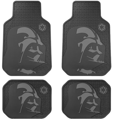 Star Wars Darth Vader with Galactic Empire Logo Car Truck SUV Front & Rear Seat Rubber Floor Mats – 4PC