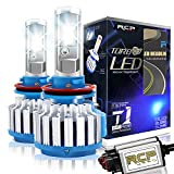 RCP H11 H8 H9 LED Headlight CREE Bulbs Conversion Kits with Canbus, 70W 7200Lm 6000K White, 2 Years Warranty