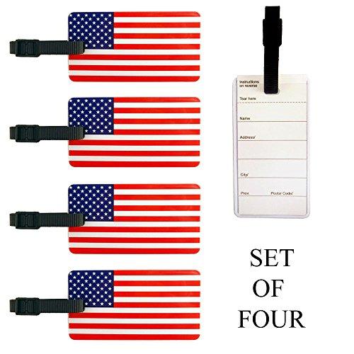 American Flag Luggage and Bag Tags - Set of ()