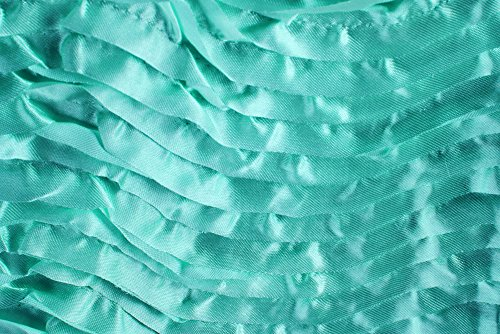 10 yards Wave Satin Fabric Roll - Light Turquoise by CLV