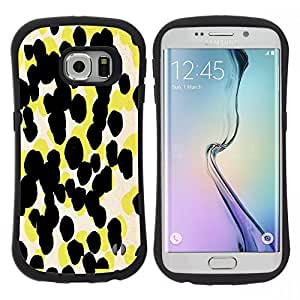 Pulsar iFace Series Tpu silicona Carcasa Funda Case para Samsung Galaxy S6 EDGE , Motif jaune d'art abstrait