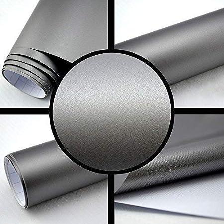 TipTopCarbon 6,57/€//m/² Autofolie Matt Silber-Grau 5m x 1,52m Auto Folie BLASENFREI mit Luftkan/älen 3D Flex