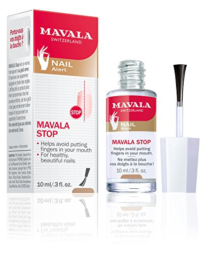 Mavala Stop Deterrent Nail Polish Treatment | Nail Care to Help Stop Putting Fingers In Your Mouth | For Ages 3+ | 0.3 Fl Oz