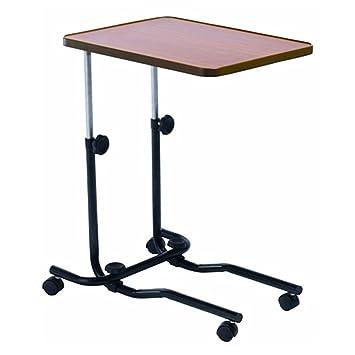 Mesa auxiliar cama mesa sobre ruedas con frenos, altura regulable: Amazon.es: Salud y cuidado personal