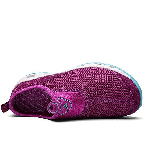YIRUIYA Frauen Mesh Athletic Walking Sneakers Wasser Schuhe Lila