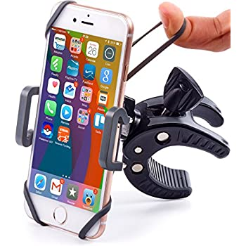 Bike & Motorcycle Phone Mount - For iPhone 8 (X, 7, 5, 6 Plus), Samsung Galaxy or any Cell Phone - Universal ATV, Mountain, City & Road Bicycle Handlebar Holder. +100 to Safeness & Comfort