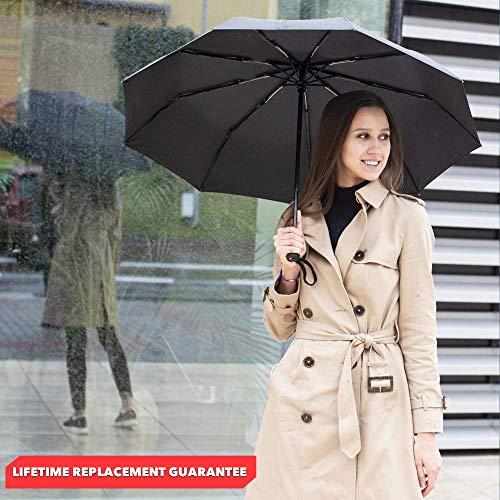 اسعار Repel Windproof Travel Umbrella with Teflon Coating