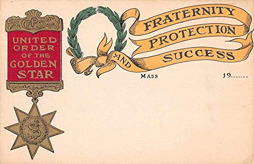 Greetings Fraternal Organization United Order of the Golden Star PC JE359672