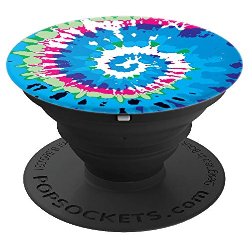Spiral Tie Dye Music Festival Gear - PopSockets Grip and Stand for Phones and Tablets