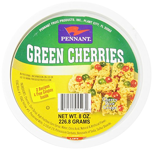 Pineapple Glazed - Pennant Green Cherries, 8 Ounce