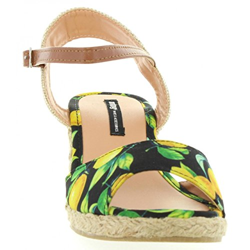 Sandalias de Mujer MTNG 53521 C30483 LIMONI NEGRO