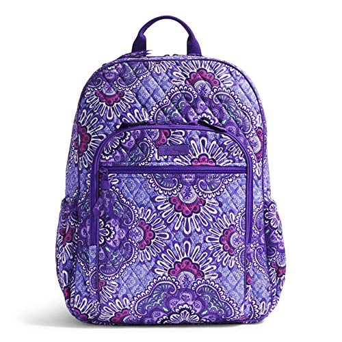 Women's Campus Tech Backpack, Signature Cotton, Lilac Tapestry