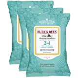 Burt's Bees Micellar Cleansing Towelettes, 30 Count (Pack of 3)