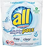 free and clear dishwasher tablets - all Mighty Pacs Laundry Detergent, Free Clear for Sensitive Skin, Pouch, 48 Count