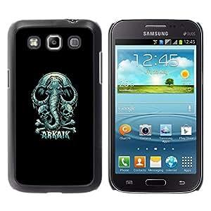 Caucho caso de Shell duro de la cubierta de accesorios de protección BY RAYDREAMMM - Samsung Galaxy Win I8550 - Arkaik cráneo y del elefante