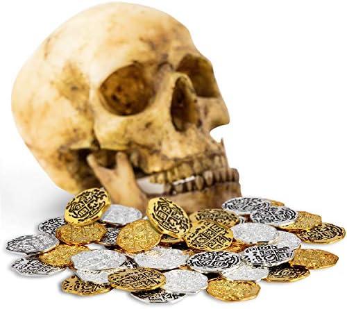 Hicarer Moneda de Metal de Pirata Réplicas de Doblones Españoles Juguetes de Monedas de Tesoro Pirata para Favores de Decoración(Color Conjunto 1, 60 Piezas): Amazon.es: Juguetes y juegos