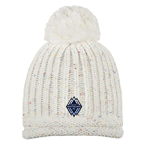 adidas MLS Vancouver Whitecaps Adult Women Fashion Yarn Cuffless Knit, One Size, Beige -