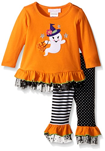 Bonnie Baby Baby Girls' Holiday Dresses and Legging Sets, Ghost, 3-6 Months -