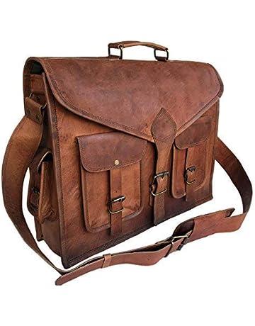 812bbf5014d4 KPL 18 Inch Rustic Vintage Leather Messenger Bag Leather Laptop Bag Men s  Leather Briefcase Satchel Bag