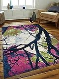 Rugsotic Carpets Machine Woven Heatset Polypropylene 5'x8′ Area Rug Turkish Floral Multicolor M00008