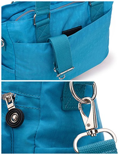 Tiny Body for Women Nylon Handbag Chou Premium Bag Ocean Cross Resistant Tote Blue Water Shoulder Multipurpose rWnrOzx7R