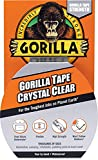 """Gorilla Crystal Clear Duct Tape, 1.88"""" x 9"""
