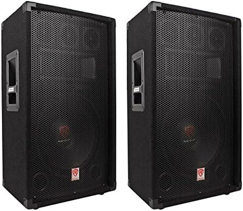 (2) Rockville RSG12.4 12 3-Way 1000 Watt 4-Ohm Passive DJ/Pro Audio PA Speakers – The Super Cheap