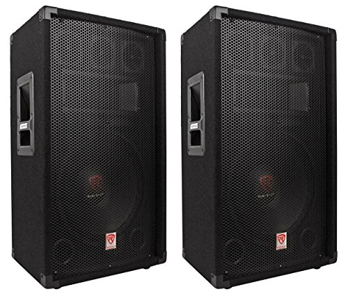 (2) Rockville RSG12.4 12 3-Way 1000 Watt 4-Ohm Passive DJ/Pro Audio PA Speakers